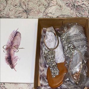 Golden Bow Sandals (never worn)